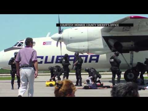 Hijacked Cuban Plane Helping First Responders