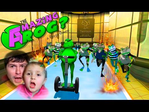 Удивительная лягушка против зомби Открываем лабораторию и убегаем от зомби Для детей Amazing Frog