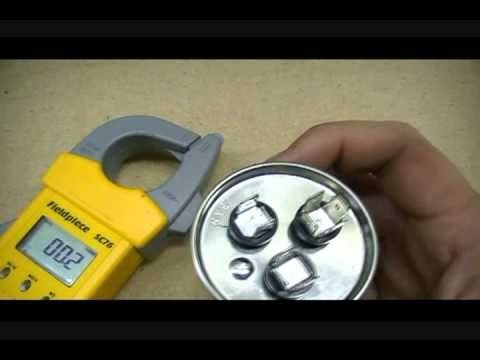 How to test a capacitor for an electric motor with a for How to test a motor start capacitor