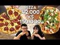 PIZZA Rp 42.000 Vs Rp 150.000 !! | Mahal Vs Murah thumbnail