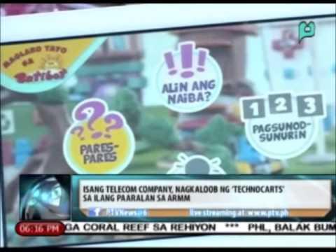 Isang telecom company, nagkaloob ng 'technocarts' sa ilang paaralan sa ARMM