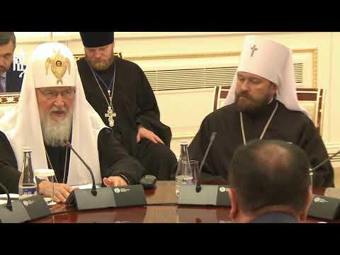 Патриарх Кирилл встретился с Верховным муфтием Узбекистана и председателем Комитета по делам религий