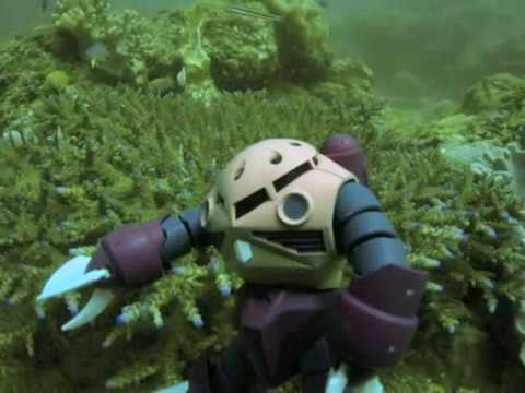 gundam[ganpura] in scuba diving.ガンプラ スキューバダイビング
