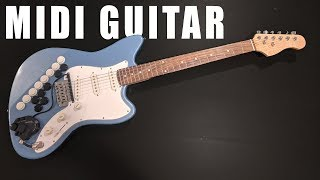 DIY Guitar with built in MIDI Controller
