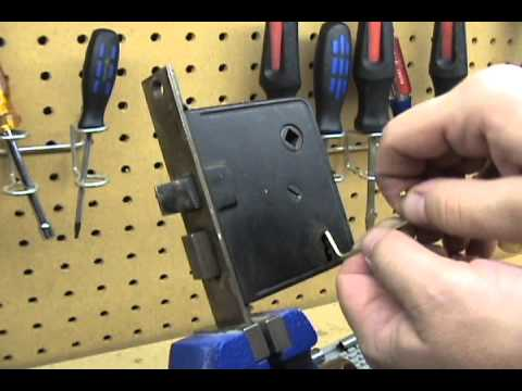 Lock Picking Diagrams 1 Lever Mortise Lock Picked