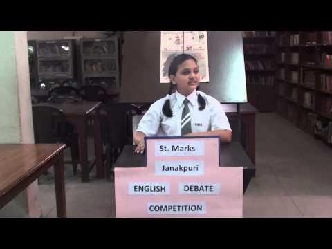 English Debate Competition St. Marks Janak Puri.