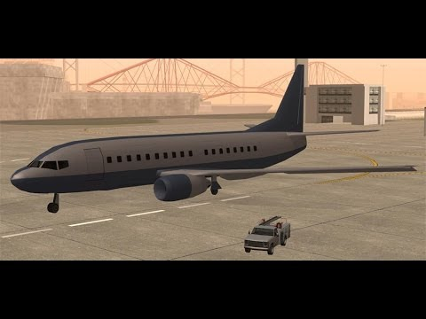 Como encontrar el avion mas grande de Gta San Andreas (AT-400)  Sin trucos ni mo