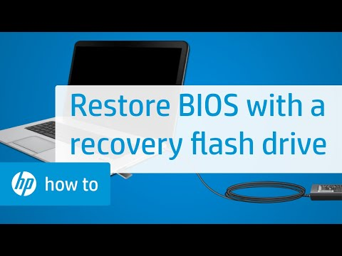 How to Restore the BIOS with a Recovery Flash Drive on HP Notebooks
