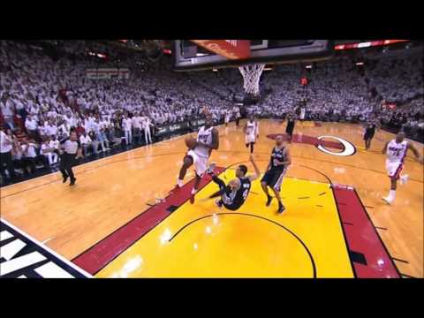 Spurs v Heat LBJ Fastbreak Drive and OOB