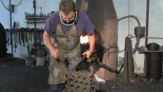 Forging a copper tuyere with Lee Sauder.