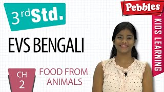 3st Std Environmental science in Bengali | Food From Animals | CH-2 | Environmental Studies Bengali