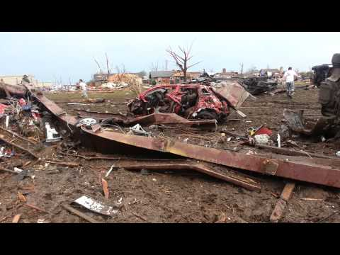 May 20th, 2013 Oklahoma tornado damage about 1 hour after.