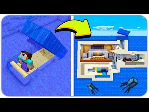 НУБ НАШЁЛ ПОДВОДНУЮ СЕКРЕТНУЮ БАЗУ В МАЙНКРАФТ! (СЕКРЕТНЫЙ ДОМ ПОД ВОДОЙ) ПОИСК СОКРОВИЩ Minecraft