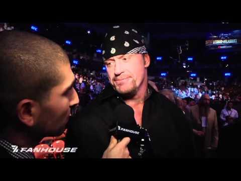 Wwe's Undertaker, Brock Lesnar Exchange Words Following Ufc 121 video