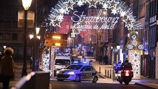 French police scour streets of Strasbourg after shooting kills multiple people at Christmas market
