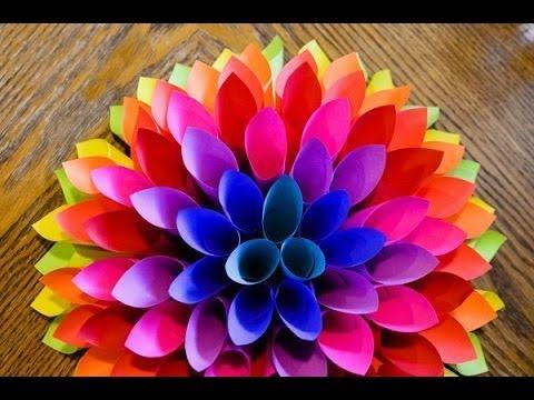 Цветы из цветной бумаги своими руками объемные 6