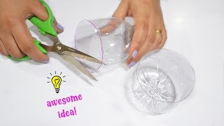 Super easy plastic bottle craft idea|How to recycle plastic bottle|how to make plastic bottle lamp