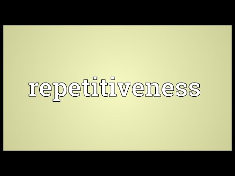 Header of repetitiveness
