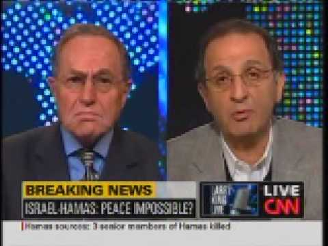 Larry King Live: Dershowitz vs Zogby on Gaza Part 1