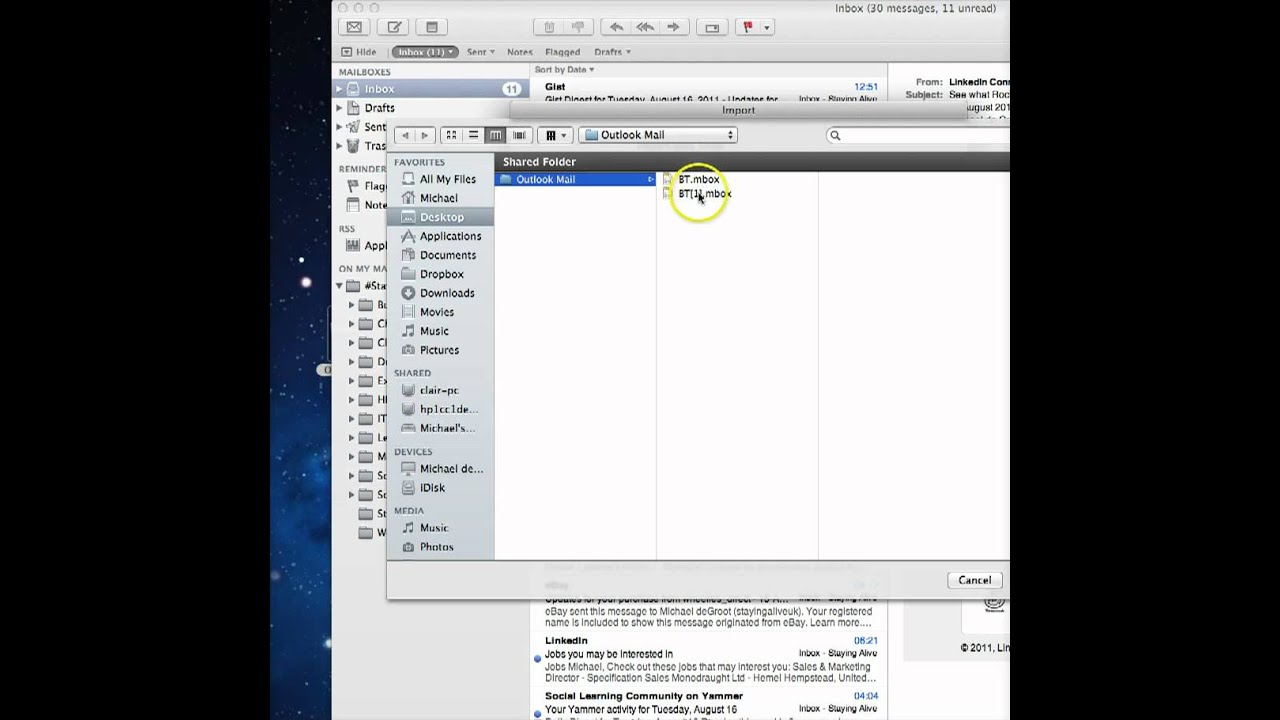 how to add sub folders in mac mail