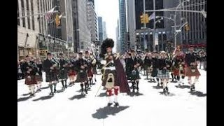 ⁴ᴷ Best Highlights Tartan Day Parade 2018 Celebrating Scotland NYC