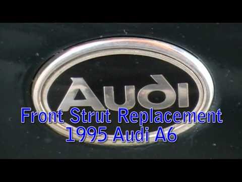 Ремонт и замена передних амортизаторов на Ауди А6 (Audi A6 C4). Видео