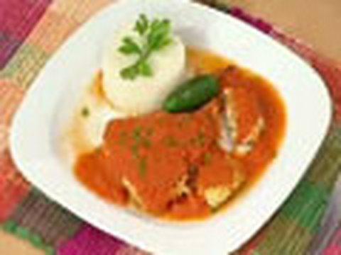 Tortitas de Pollo en Salsa de Jitomate...Receta
