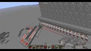 Мост в Майнкрафт из гравия лёгкий механизм.