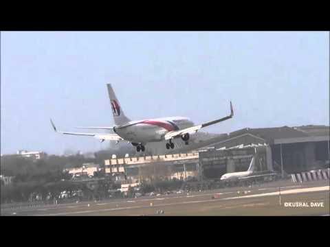 Malaysia Airlines Boeing 737 landing at Mumbai International Airport