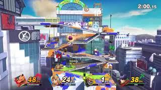 Super Smash Bros. Ultimate Inkling Gameplay on Splatoon Stage - E3 2018