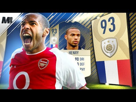 FIFA 18 ICON HENRY REVIEW | 93 PRIME ICON HENRY PLAYER REVIEW | FIFA 18 ULTIMATE TEAM