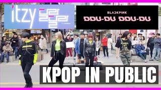 [KPOP IN PUBLIC] BLACKPINK - DDU-DU DDU-DU × ITZY DALLA DALLA Dance Cover @Korea