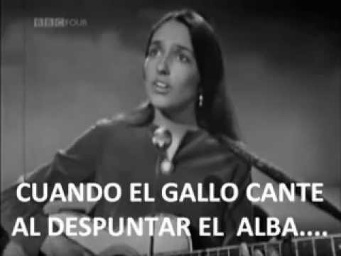 DON´T THINK TWICE, ITS ALL RIGHT JOAN BAEZ SUBTITULOS AL ESPAÑOL