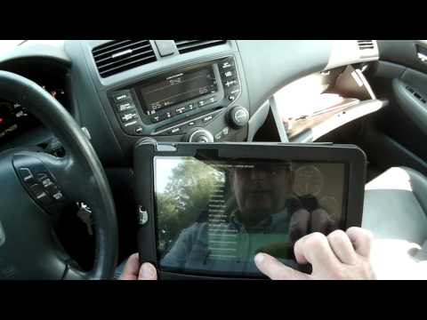 OBDII OBD2 Android Tablet Demo - Bluetooth Interface