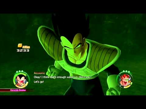 Dragonball-Z Raging Blast 2 Vegeta vs Recoome