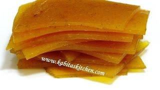 Aam Papad Recipe-How to Make Perfect Aam Papad-Homemade Mango Papad-Easy Mango Recipe