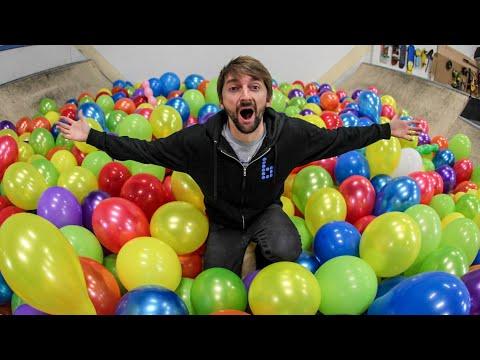 1000 Balloons VS Miniramp