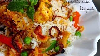 Vegetable dum biryani Hyderabadi style