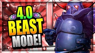 PEKKA MADNESS!! NEW 4.0 BEAST PEKKA DECK!! Clash Royale Pekka Wizard Deck