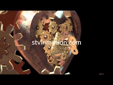 Valentines Day VJ loops Steampunk Vision for shows events mapping