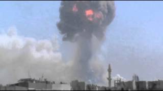 Raw: Blasts Rock Syrian Weapons Depot  8/1/13