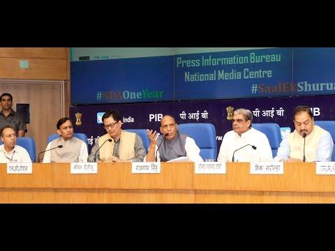 Shri Rajnath Singh's Press Conference on #SaalEkShuruaatAnek | May 29, 2015