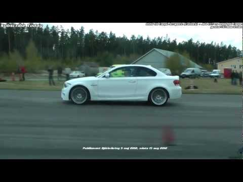 BMW 1M Coupe (JB4 ECU and Akrapovic exhaust)  vs BMW M6 Coupe (stock)