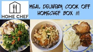 Meal Delivery Cook Off:  HomeChef Box #1