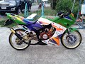 Test Speed and Sound of kawasaki KRR 150 modified from Thailand