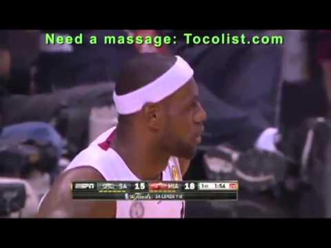 Lebron James Amazing  Block to Tim Duncan  NBA Final -- Spurs at Heat June 09 , 2013