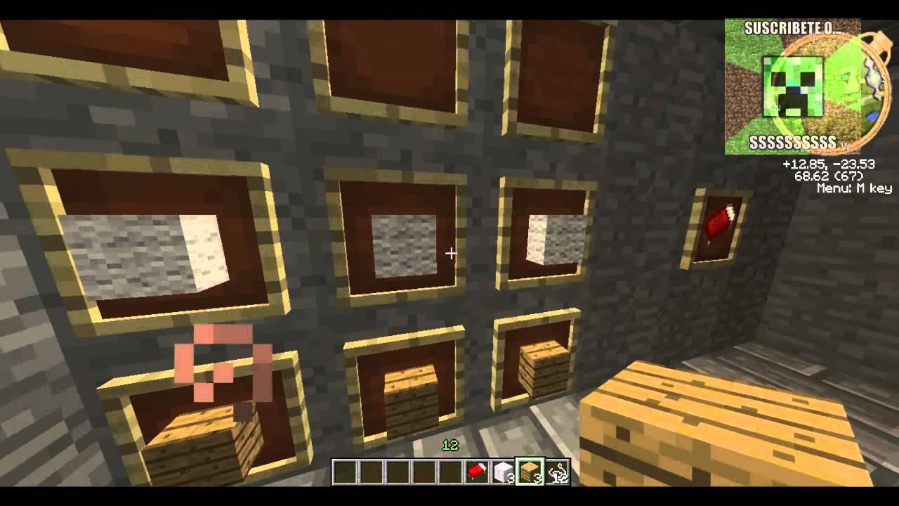 Como hacer una cama en minecraft 1 4 7 youtube for Cama minecraft