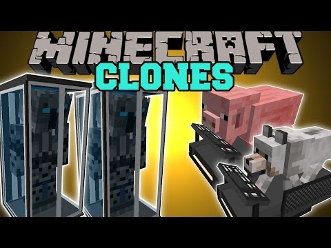 Minecraft: CLONE MOD (CLONE YOURSELF, TELEPORT, & NEVER DIE!) Mod Showcase