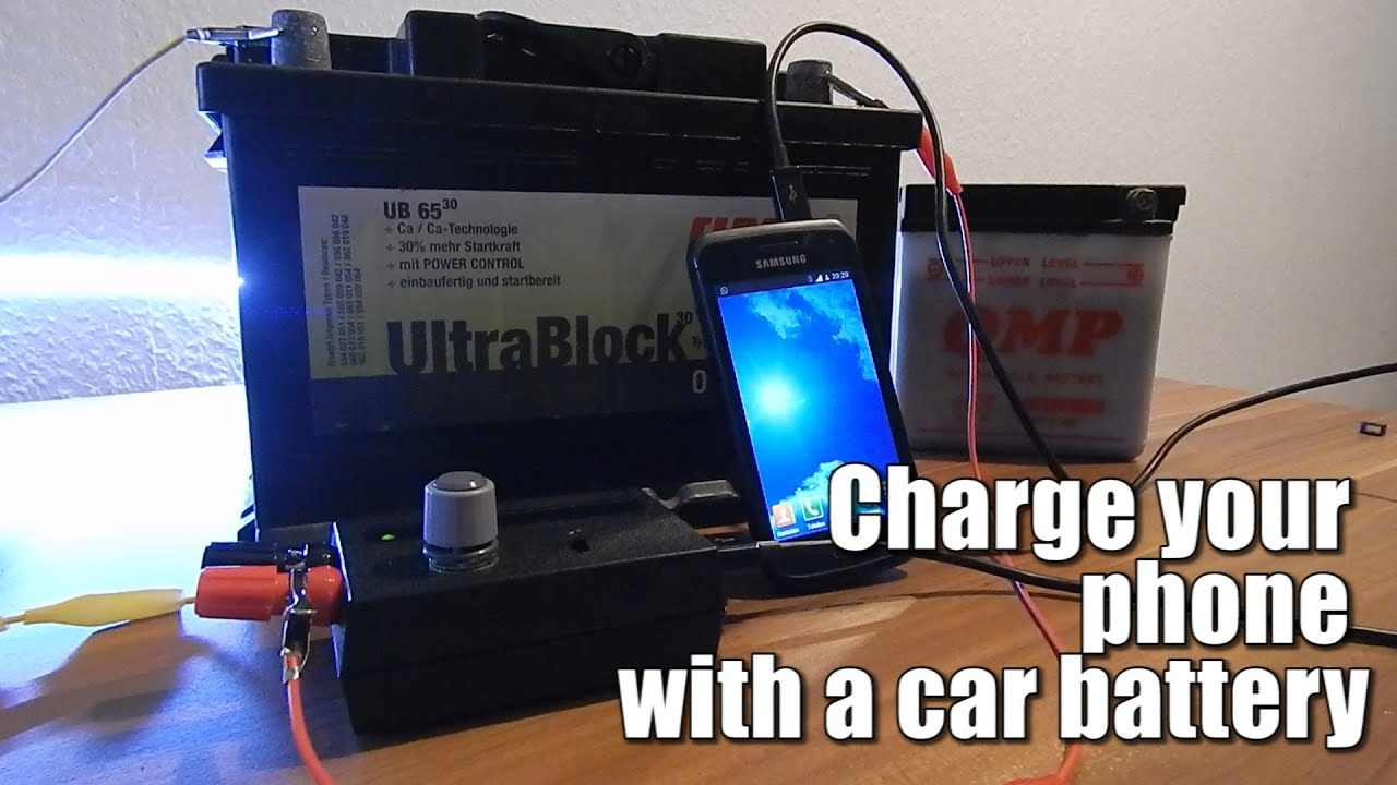 Charging A Big Car Battery With A Solar Panel