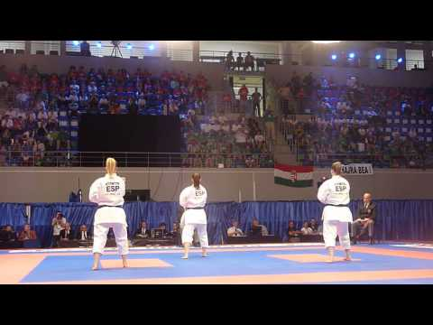 Spain Kata Team Female Bronze match. 48th European Karate Championships